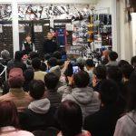 【ご盛況】高岡君 カトーサイクルさんで トークショー